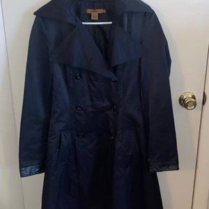 Arden B. Black Trench Coat Size S